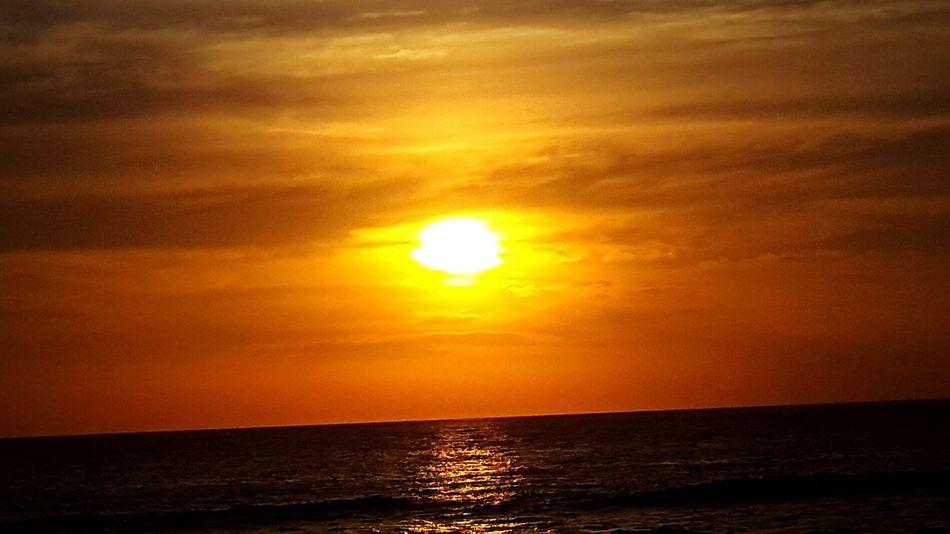 Sunset Ocean Sun Red