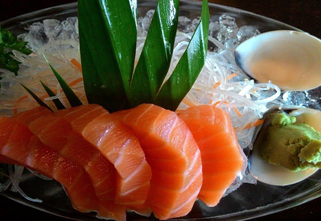 Sashimi  Sashimilovers Wasabi Japanese Food Salmon Sashimi