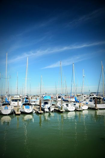 Boats... pier 39... SF❤✌ Taking Photos Waterscape Clouds And Sky Enjoying Life Hello World Boats And Clouds Photooftheday Boats The Pier San Francisco Beautiful Color Photography Photography Is Life Photography Lovers EyeEm Best Shots