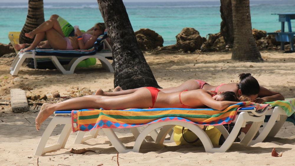 Beauty In Nature Pigeon Point Lighthouse Bikinibottom Bikinigirl Tannin✌ Beach Chairs Beach Photography Pigeon Point Beach Tobago