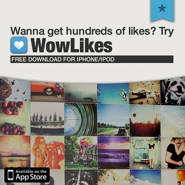 Would you like to get hundreds of Likes on your photos? Get @WowLikes App on the AppStore. 100% FREE WowLikes