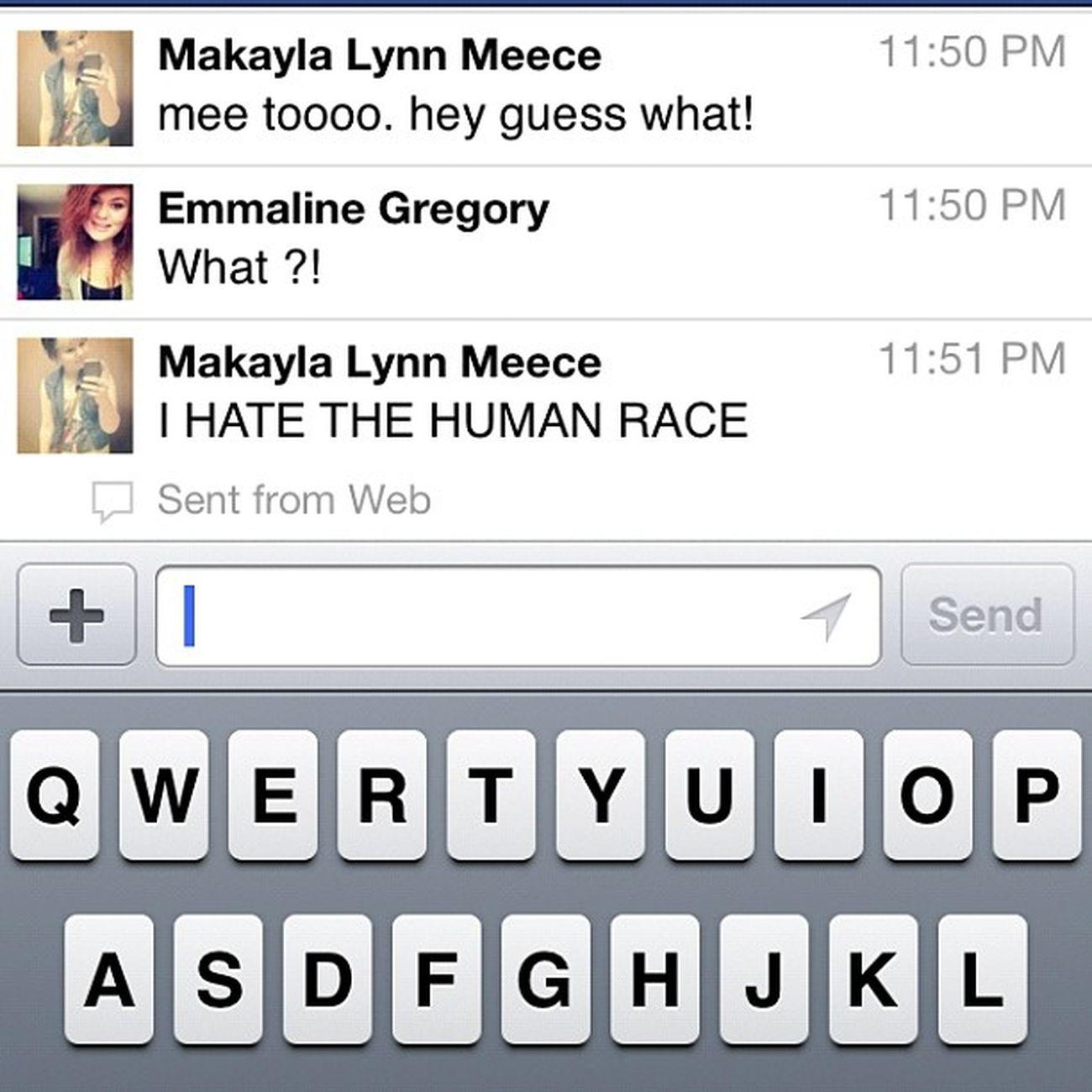 Lol the conversations we have kill me . @stormeyrayne Hatehatehate