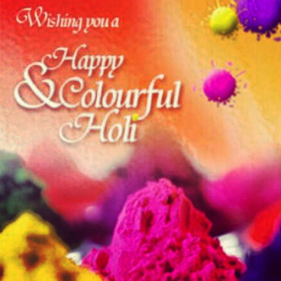 Happy Holi to all of my fellow Hindus!!! FestivalofSpring Rangabarase Hinduholiday Phagwah Holiayeere