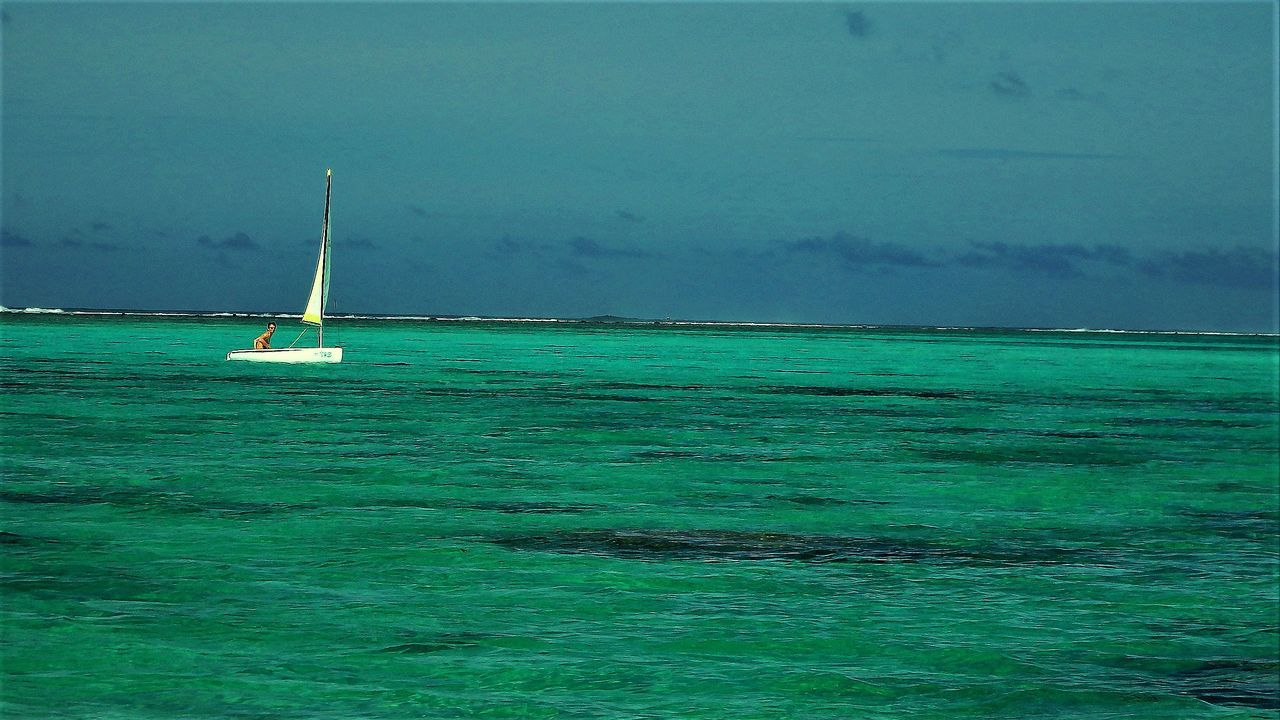 Sailor Lagoon Aquamarine Sea Sports Sailing Rarotonga Cook Island