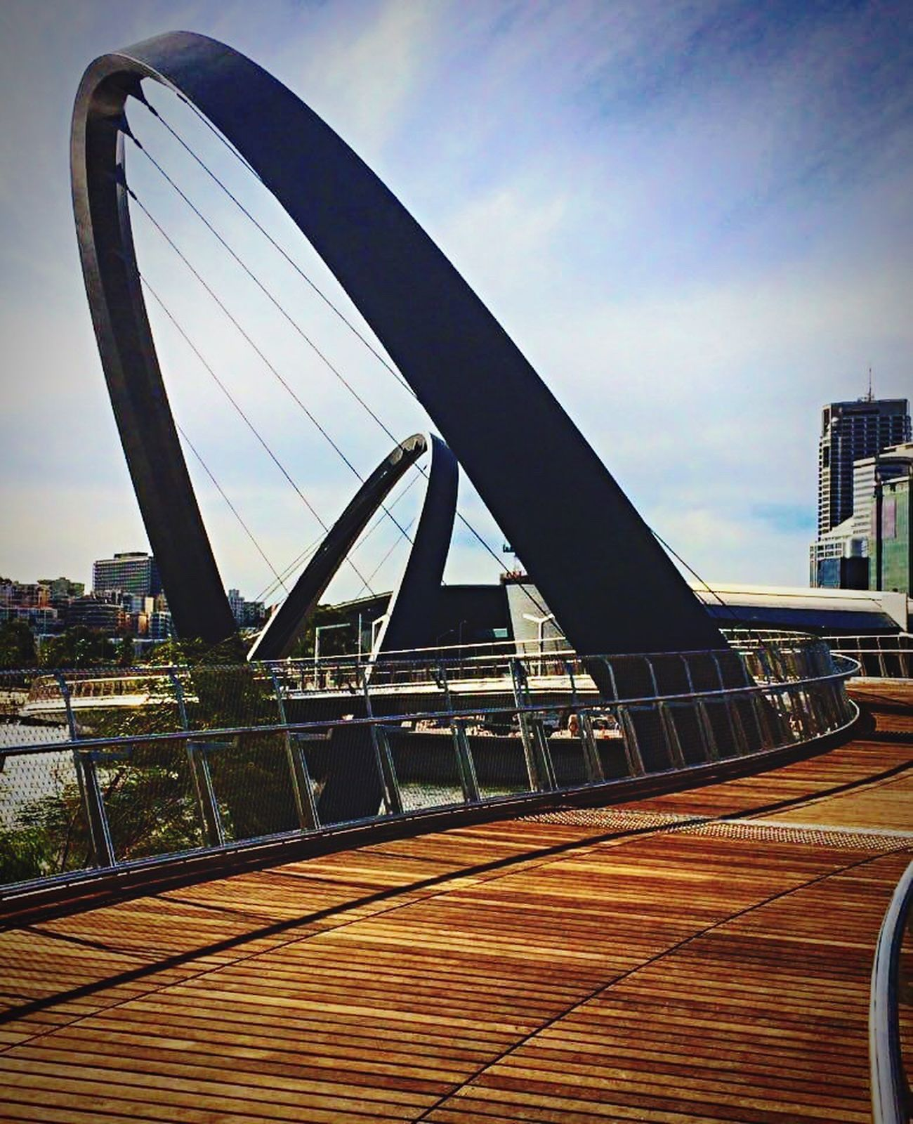 Elizabeth Quay Footbridge, the day before opening to the public