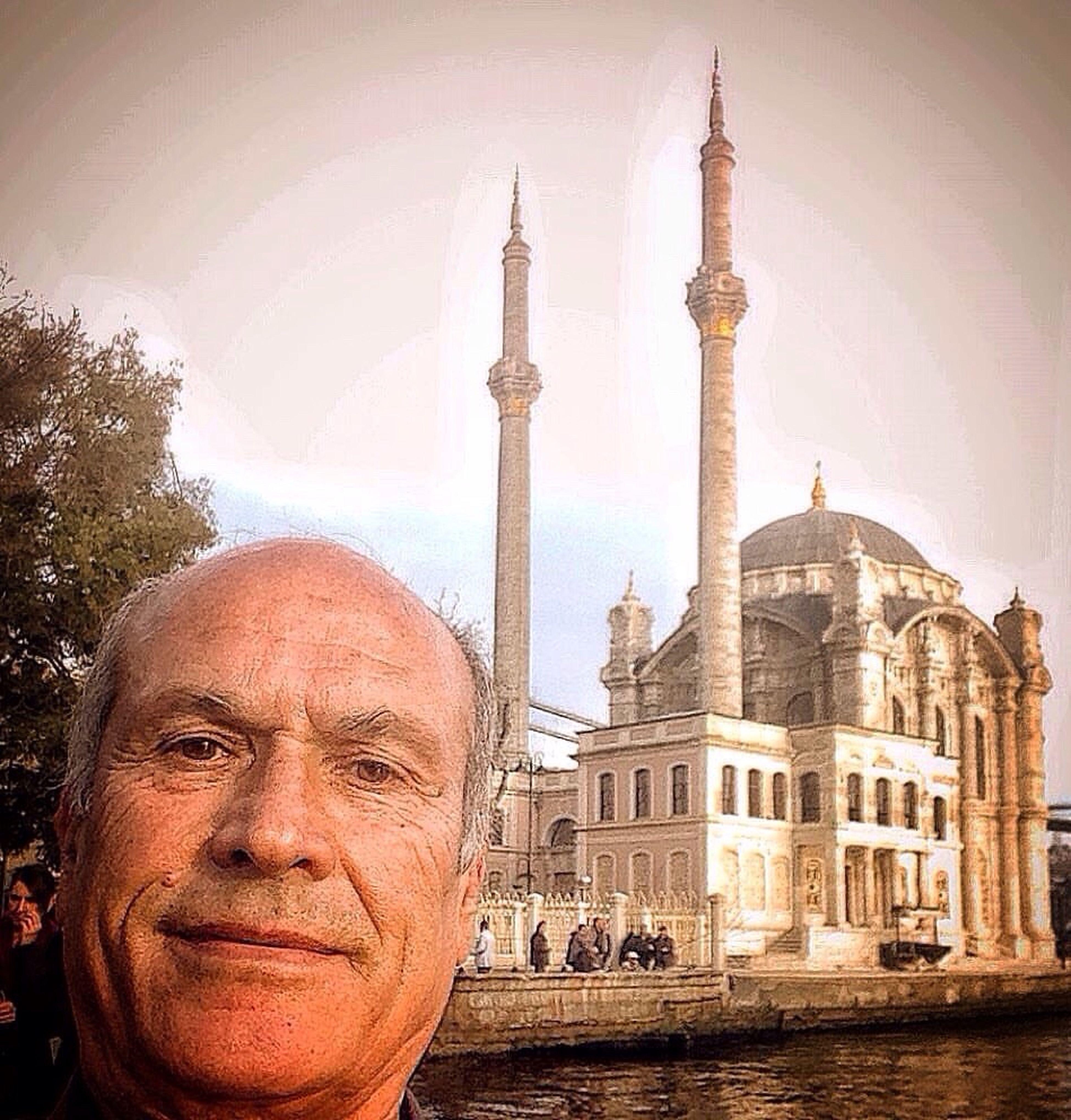 Gezgin Ortaköy'de.. Architecture Ottoman Empire Gazonungözü Selfie Portrait One Man Only Hi Travel Destinations Adults Only Outdoors Istanbullife Myworld Walking Historical City Religion Looking At Camera Leisure Activity