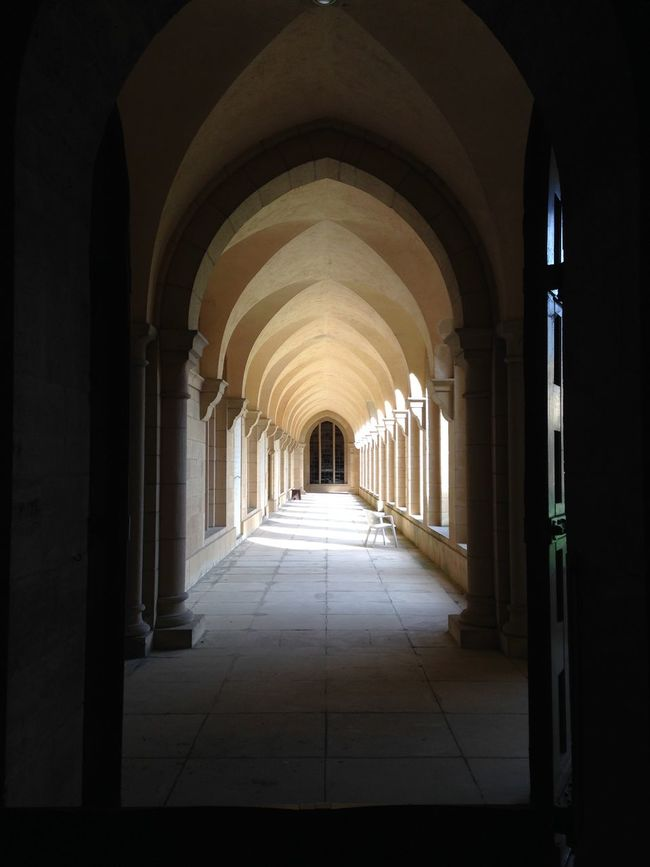 on the way#discovering#impressive place to be... Abbaye Architecture Column History Lightening Monk  Perspective Religion Sun