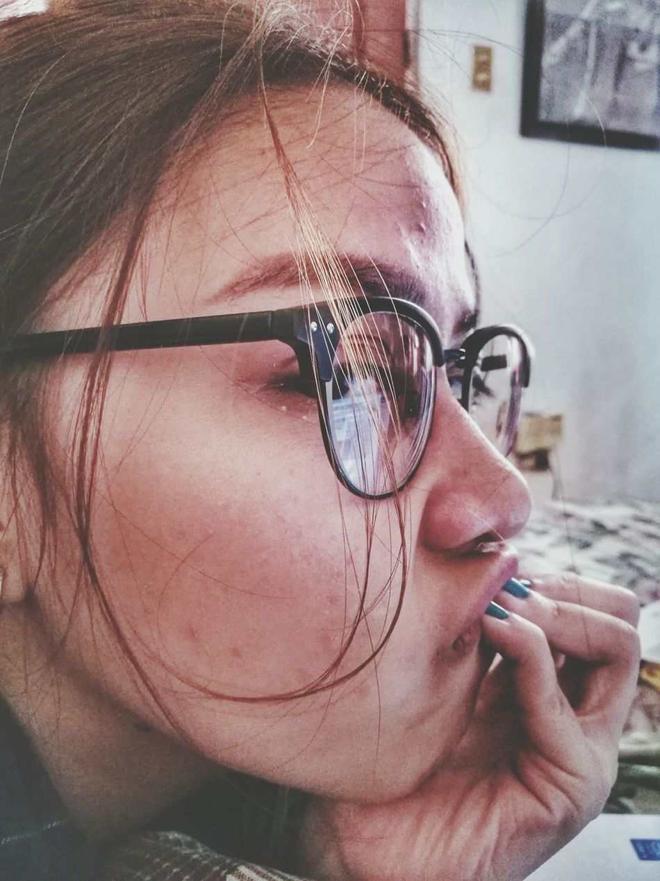 So lucky to have her. One Woman Only Human Face One Person Beauty Portrait Close-up Eyeglasses  One Young Woman Only Young Adult Lovely Wackyface HuaweiP9 Eyeem Philippines