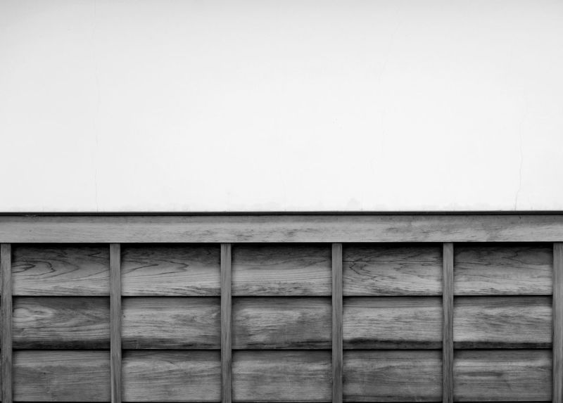japanese wood panels and white copy space wall background Copy Space Japan Wall Wood Architecture Building Exterior Built Structure Day Indoors  No People Panels White