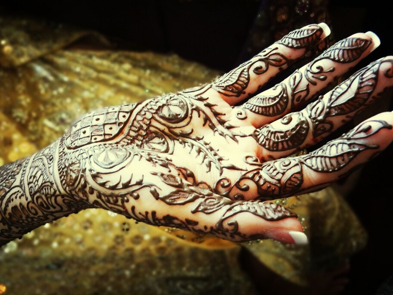 Wedding Bride India Henna Mehndi Indian