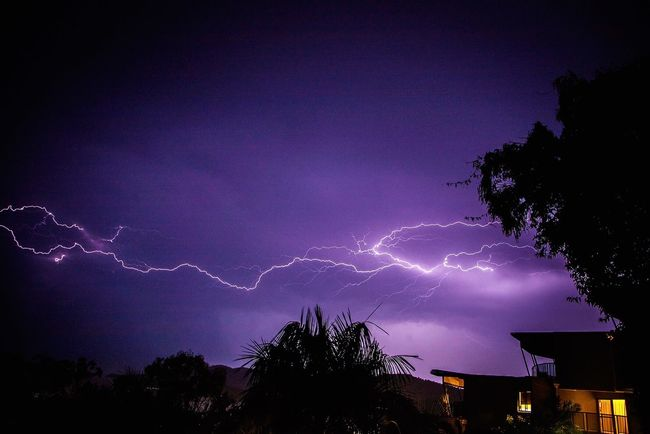How's The Weather Today? Lightning Digitalghosts Storm Purple