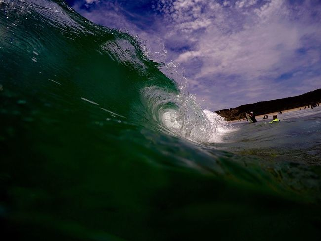 - Pure Wave - Surf Beach Sky Cloud Water Sea Getting Away From It All Calm Relaxation Green Blue Water Tube Wave Waves, Ocean, Nature Beauty In Nature