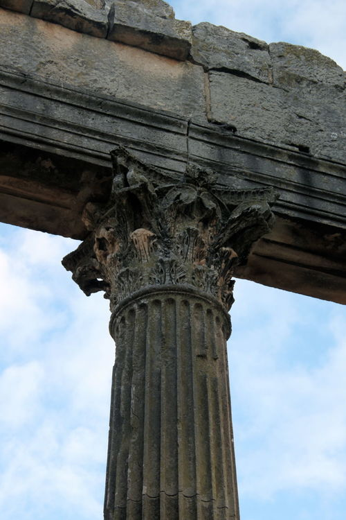 Archeology Architectural Column Architecture Architecture Built Structure Capitello Cloud - Sky Dougga History No People Old Ruin Roman Ruins Sky Temple Travel Destinations Tunisia