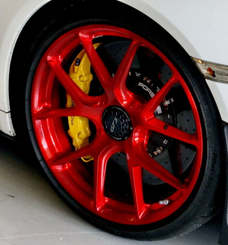 Brakes Car Circle Close-up Day Land Vehicle Mode Of Transport No People Outdoors Porsche Porsche GT3 Red Rotors Tire Transportation Vehicle Part Wheel