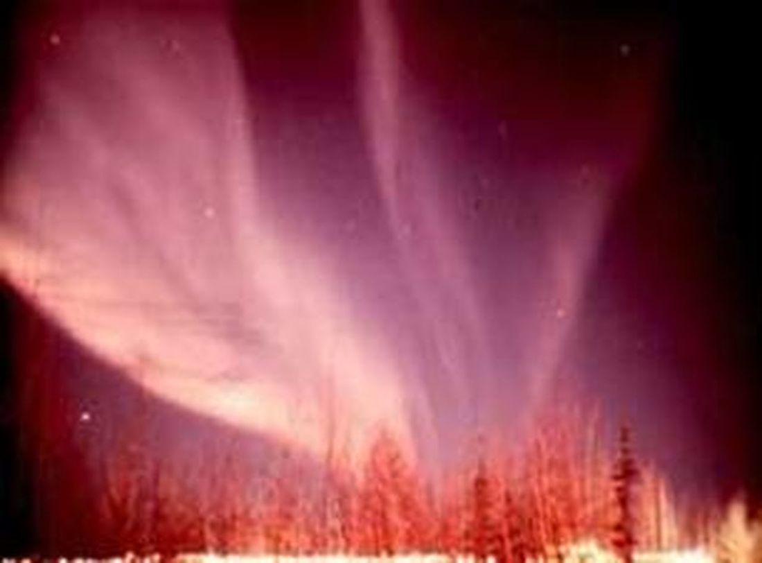 Aurora Borealis Pink Rose Esos Cielos... presso Finlandia