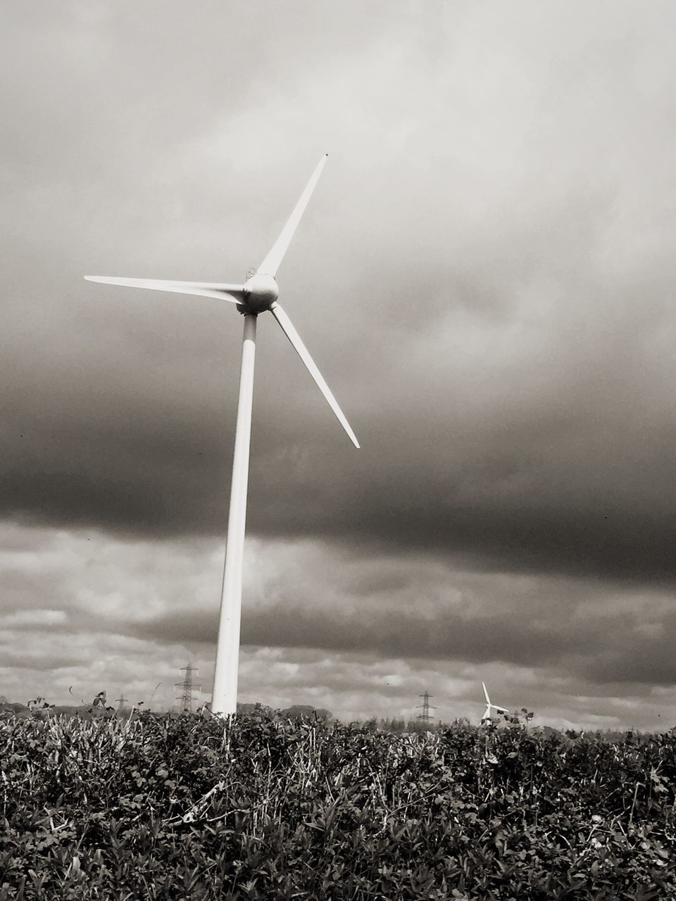 wind power, wind turbine, alternative energy, environmental conservation, renewable energy, fuel and power generation, windmill, industrial windmill, field, technology, sky, nature, rural scene, cloud - sky, outdoors, no people, day, traditional windmill, landscape, grass, agriculture, low angle view