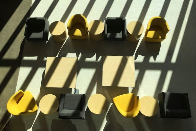 Light And Shadow Line And Shape Lines Shapes Patterns Shadow Sunlight Sunlight And Shadow Chairs In Sunlight Minimalist Chairs Looking Down Architecture Eye Em Best Shots Week On Eyeem IPhone Photography No People Built Structure Diagonals Sunlight And Shadows Lines And Curves