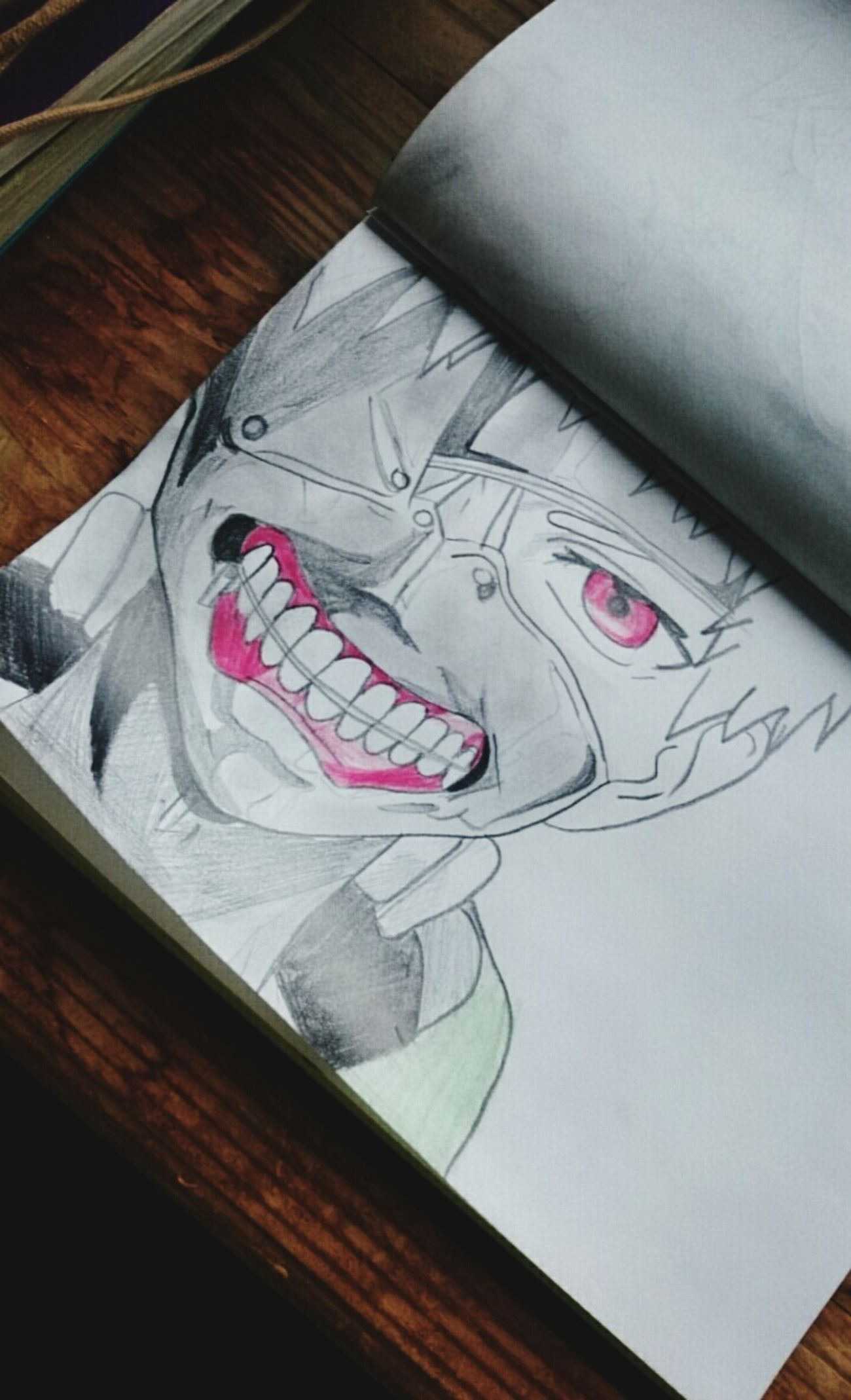 Did a drawing Tokyo Ghoul Kanekiken Drawing Art Shadowing Anime Anime Lover My Favorite Anime
