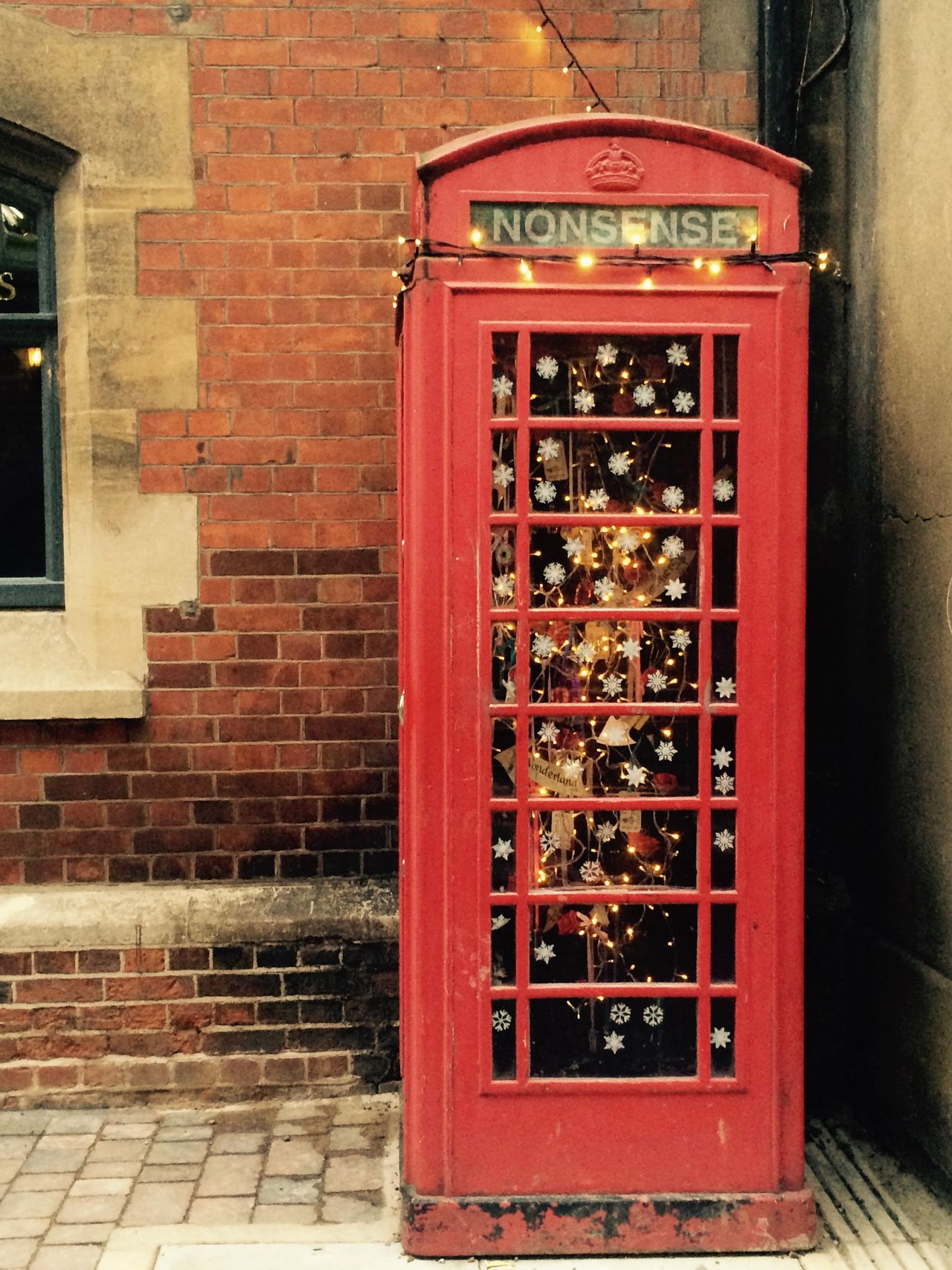 Architecture Brick Wall England London No People Nolstalgia Old Oxford Phone Box Red Red Phone Boxes