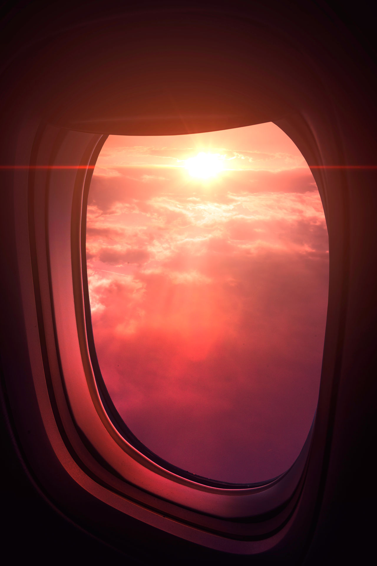 Sunset Cloud - Sky Window Sky Sun No People Travel Scenics Airplane Aerial View Nature Beauty In Nature Colorful EyeEm Best Shots Flying Airplane Sunrise Dreamy EyeEm The Great Outdoors - 2017 EyeEm Awards