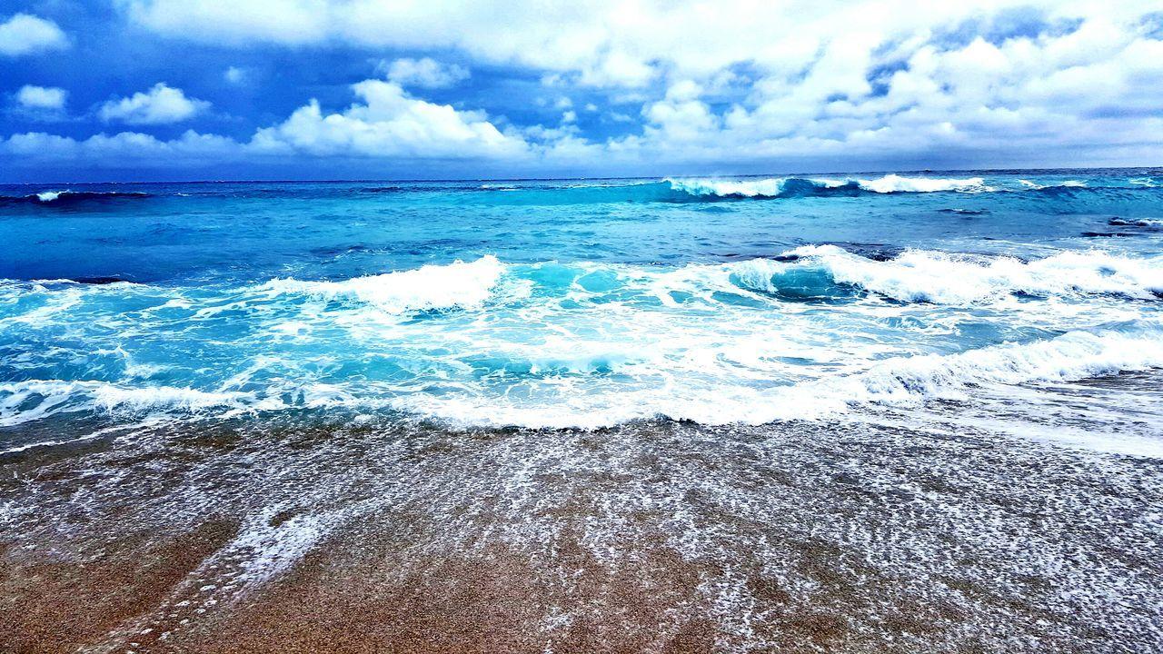 Sea Beach Swimming Kenting, Taiwan Sand Sea And Sky Waves Waves Sand Colour Of Life Ocean Take A Walk Blue