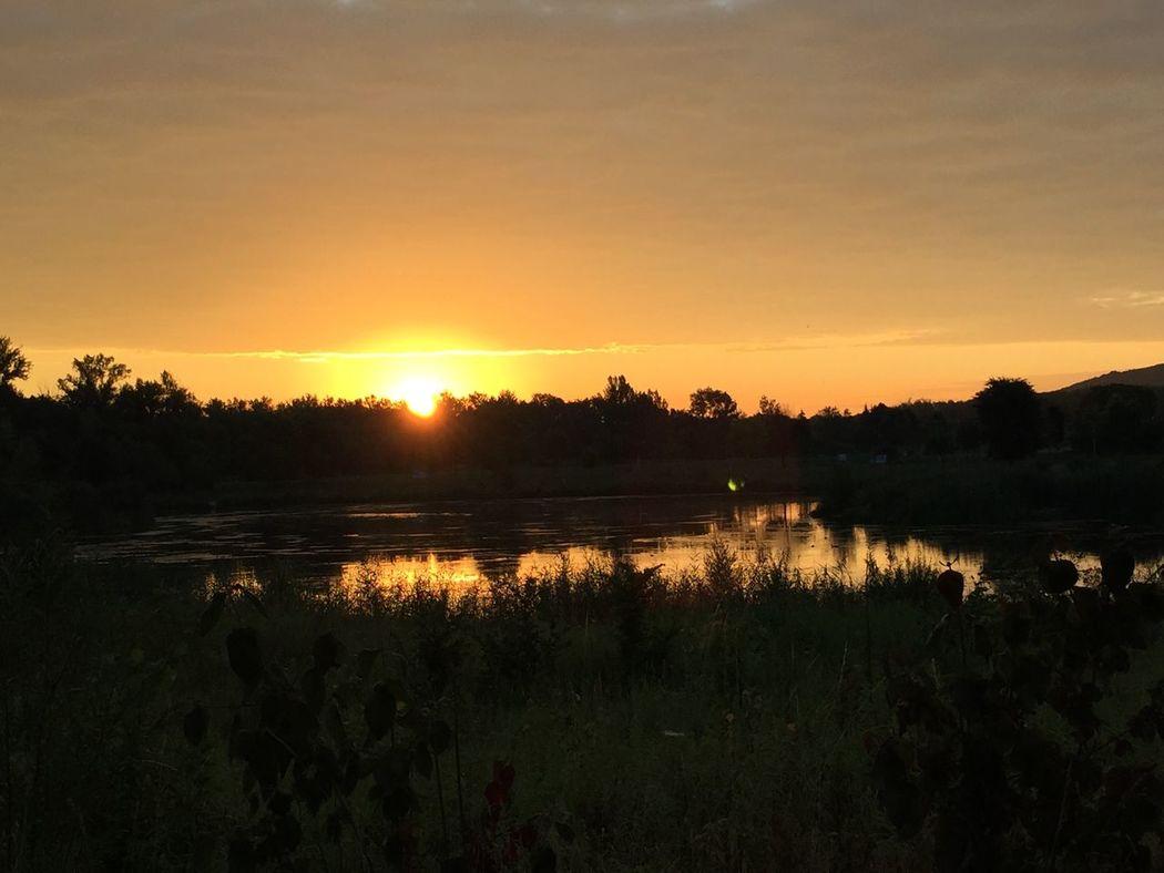Solarcity See Weikerlsee Sonnenaufgang