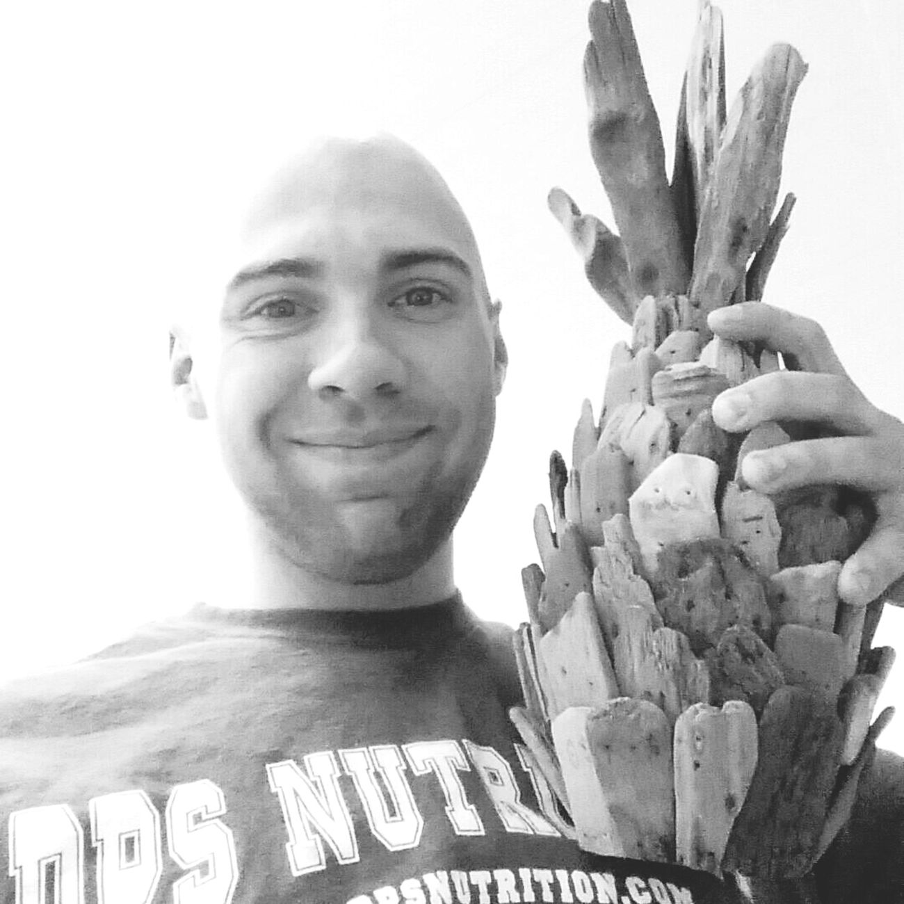 Wooden Pineapple Black & White That's Me Too Happy