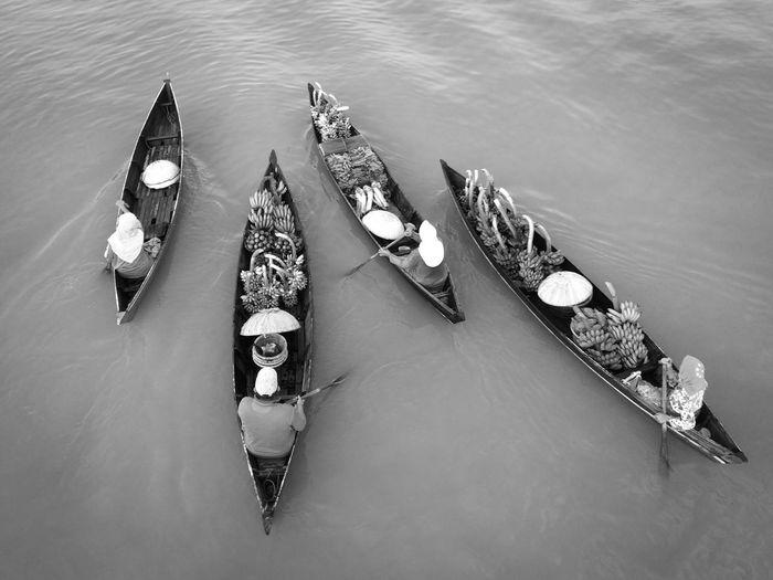 Black & White Blackandwhite Photography Blackandwhite River View Kalimantan Selatan Banjarmasin Lokbaintan Floating Market Floatingmarket