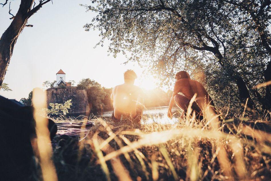 Beautiful stock photos of lake, Germany, Leipzig, Leisure Activity, Men