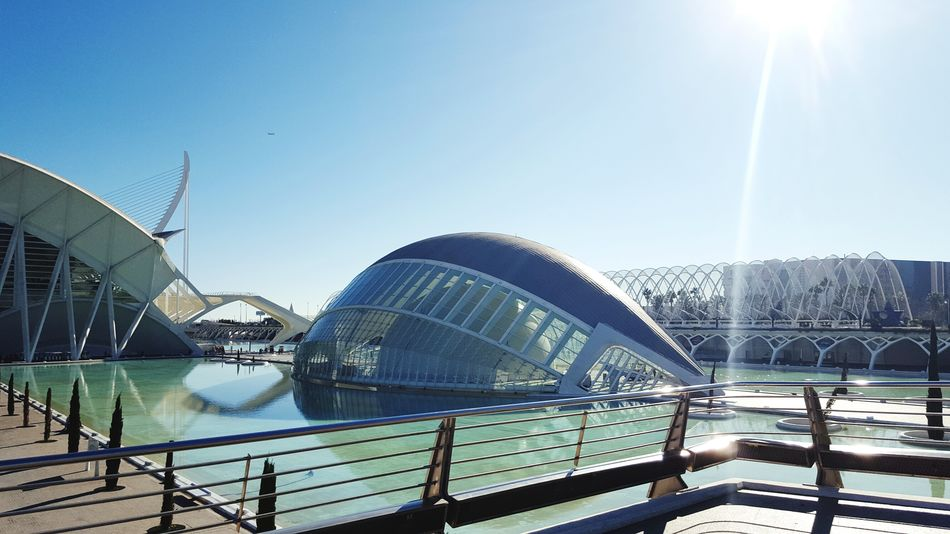 City Bridge - Man Made Structure Travel Destinations Sky Sunbeam Architecture Outdoors No People Day Oceanographic Modern Greatview Adapted To The City Arts Culture And Entertainment Architecture Great Outdoors Built Structure Oceanografico Valencia Valencia, Spain Beauty In Nature Freshness Water Cityscape Travel Great Day