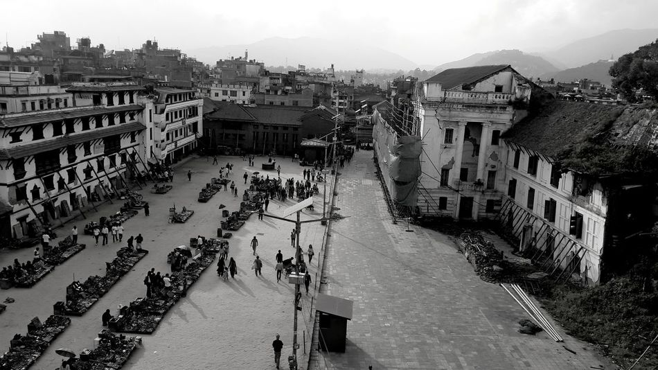 Afterearthquake Architecture Building Exterior Built Structure City Day High Angle View Large Group Of People Nepal Nepalearthquake2015 Outdoors Real People Stillsame