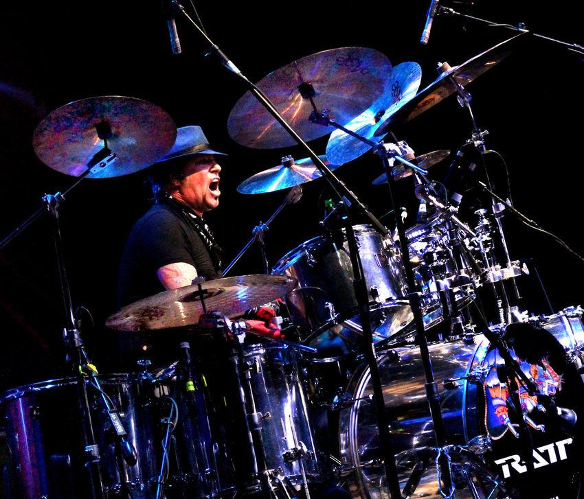 Beverly Hills Blue Bobby Blotzer Close-up Concert Photography Glowing Illuminated Night Ratt Rock And Roll Saban Theater Drummer The Portraitist - 2016 EyeEm Awards ThePhotojournalist2016eyeEmAwards Everyday Emotion
