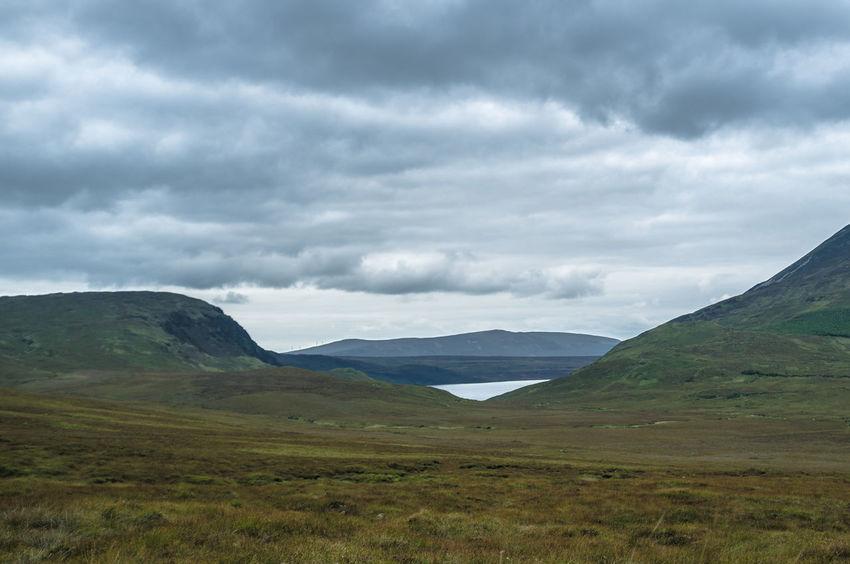 Autumn Clouds And Sky Dramatic Sky Horizon Over Land Ireland Lake Landscape Mountain Mountain Range FujiFilm X100