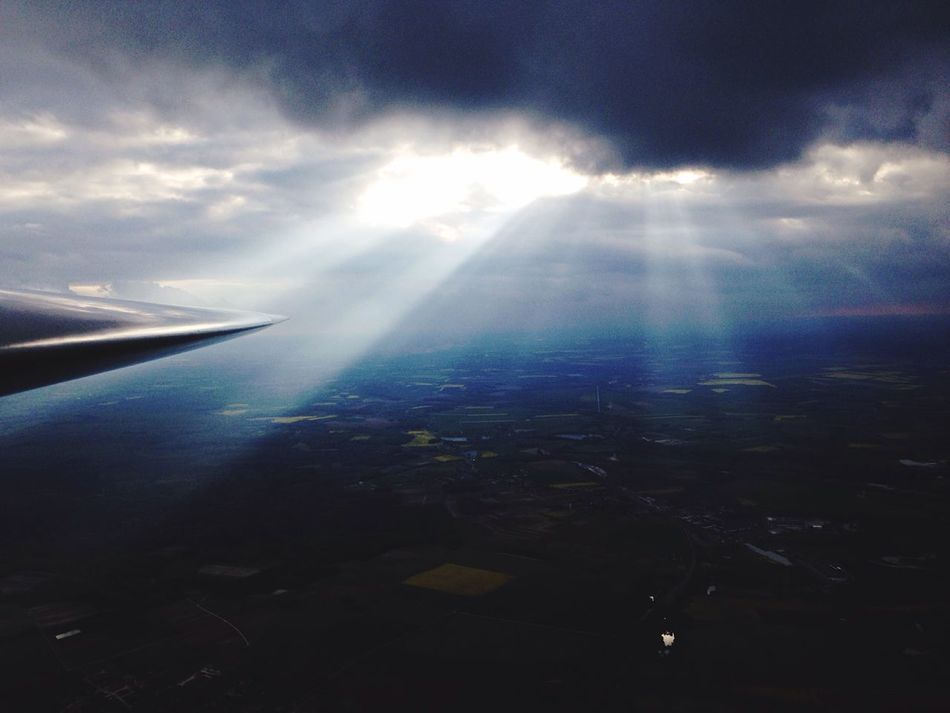 Aerial View Beauty In Nature Airplane Nature Sky No People Glider Scenicslane ✈] Cloud - Skyn Nature] Flying Airport Rain France Cumulus Cloud Cockpit Sunset cloud - skyAirplane WinggTranquilityyLandscapeeTransportationnOutdoorssDayy