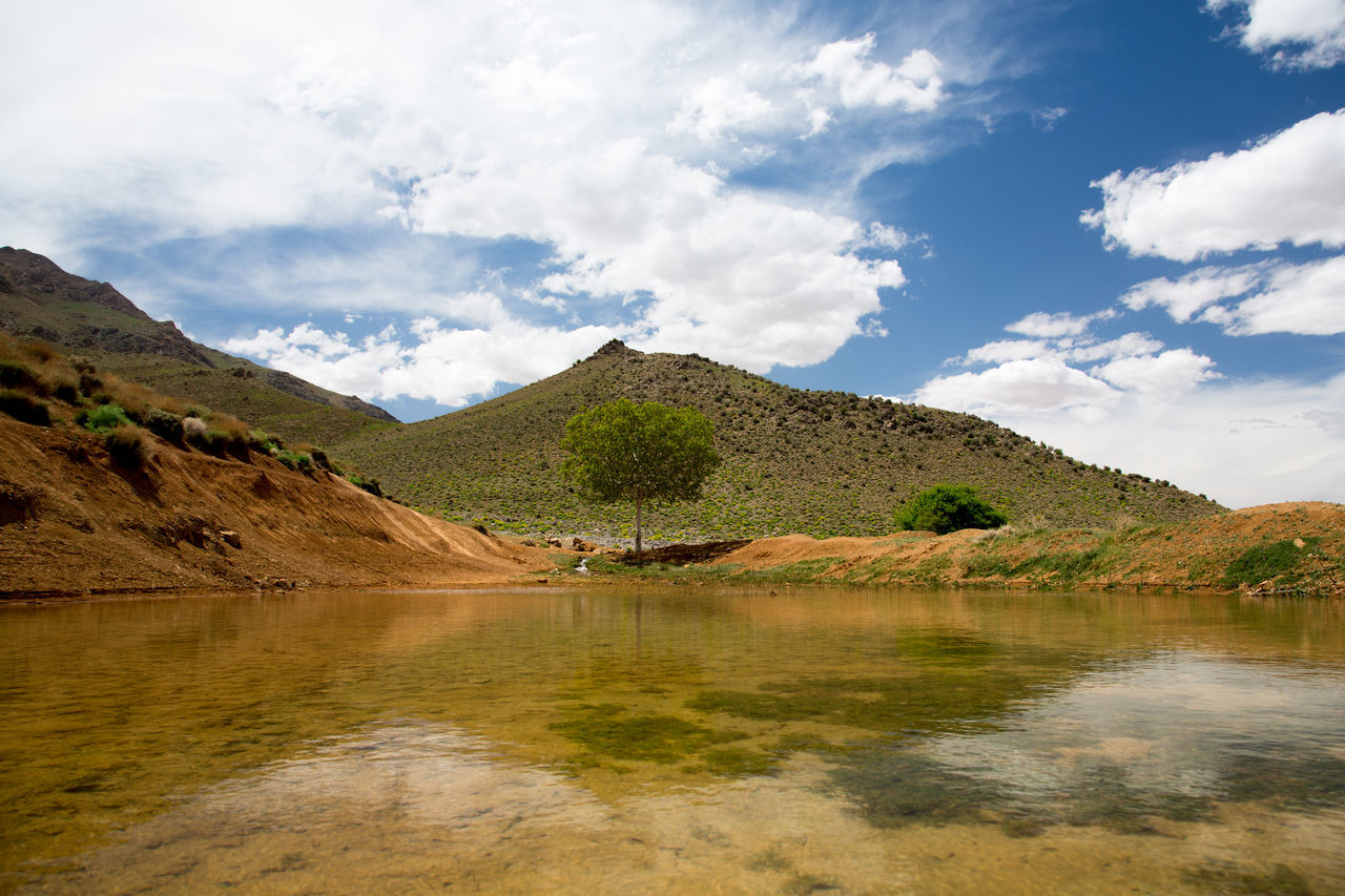 Hill Iran Lake Middle East Peaceful Persia Reflection Remote Rural Sky Tourism Tranquility Travel Destinations Water
