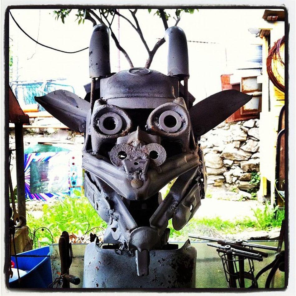 Gargoyle | www.claudiocosta.biz Italy City Photoart Instaily junkart junk scultura sculpture ferrobattuto grunge ruggine ferro claudiocosta
