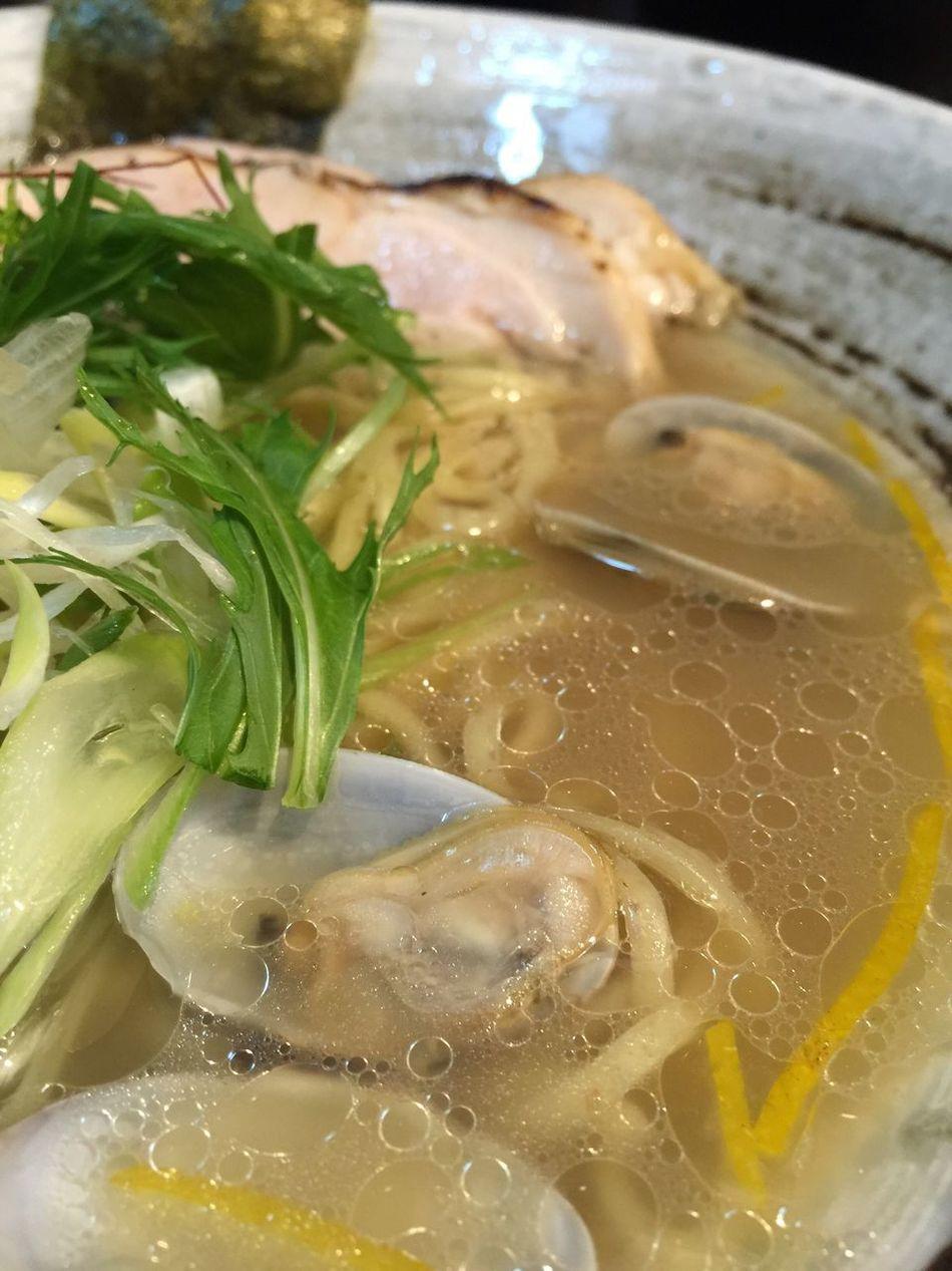 アサリ入のラーメンて美味しい☆ Vscocam Ramen ラーメン ラ女子 ラヲタ 大阪市 本町