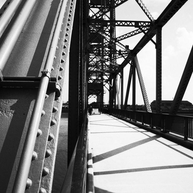Bridge 橋 福岡 Monochrome 昇開橋 重要文化財 機械遺産