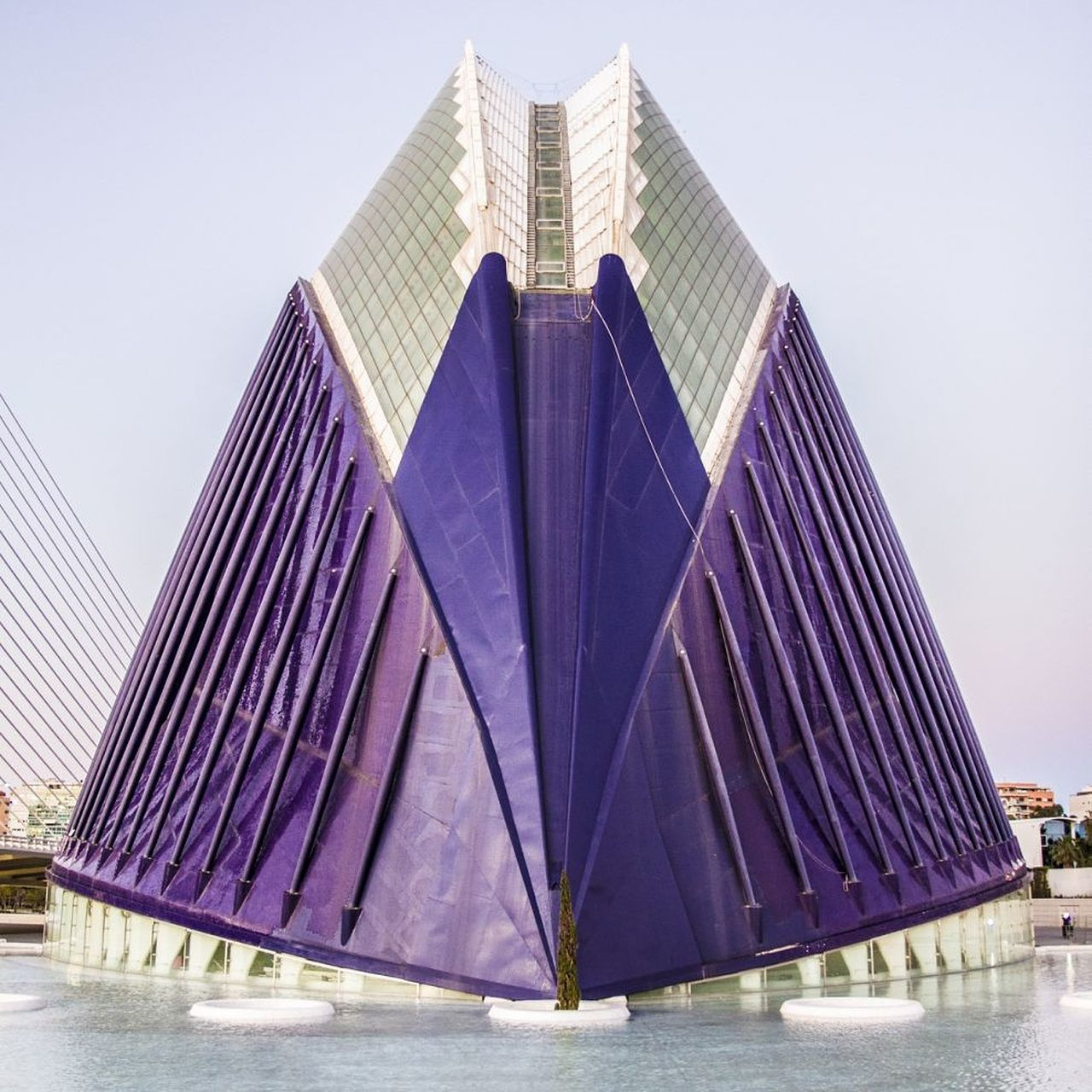 Architecture Modern Built Structure No People Outdoors Futuristic Day Urban Skyline Building Exterior València Futuristic Valencia, Spain Museum Architecture Water Purple Color Skyscraper City Sky