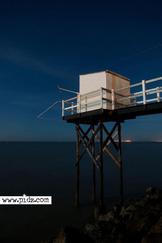 Nightphotography Seascape Carrelet Nightshot Blue Nikon