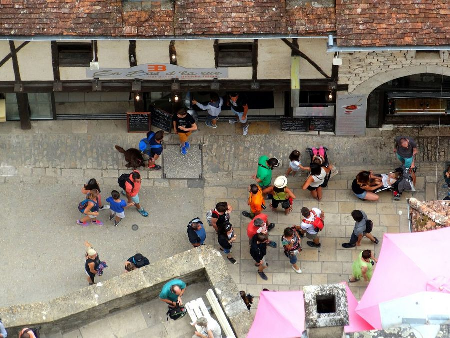 Everyday people. Large Group Of People Leisure Activity Lifestyles High Angle View Casual Clothing Crowd Day Togetherness Street Elevated Angle A Bird's Eye View France Photos Overhead View French Lifestyle Lot Rocamadour From My Point Of View Tourisim Tourism Footpath Paving Stone Standing Cobblestone Lazy Afternoon