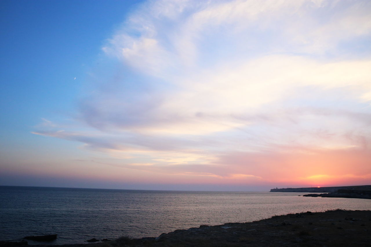 Beach Beauty In Nature Cloud - Sky Day Horizon Over Water Horizontal Nature No People Outdoors Scenics Sea Sky Sunset Water