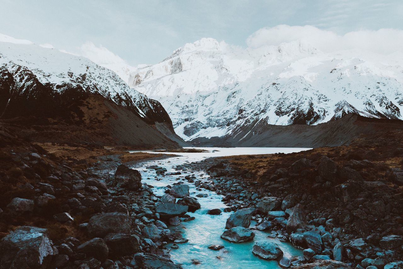 Mountain Cold Temperature Snow Winter Beauty In Nature Nature Scenics Snowcapped Mountain Weather Mountain Range Tranquil Scene Tranquility Landscape Frozen No People Outdoors Day Sky Lake Glacier