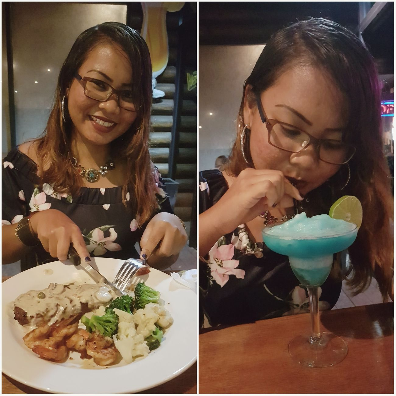 Thankful for those who made my day❤😊 Food And Drink Cocktail Blue Margarita Freshness Adult Dinner Time Memories ❤ Happiness Loved With An Everlasting Love Beyourownkindofbeautiful Surinamese_Javanese Beauty One Person Enjoy The Moment Enjoying Life ♥ Birthdaygirl Birthday Celebration Birthdaydinner Surprised Thankful✨