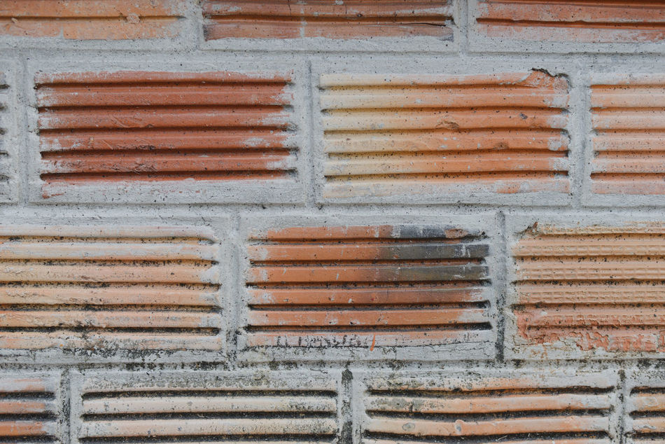 Architecture Backgrounds Brick Wall Building Exterior Built Structure Close-up Corrugated Iron Day Full Frame No People Outdoors Paint Pattern Shutter Textured  Weathered