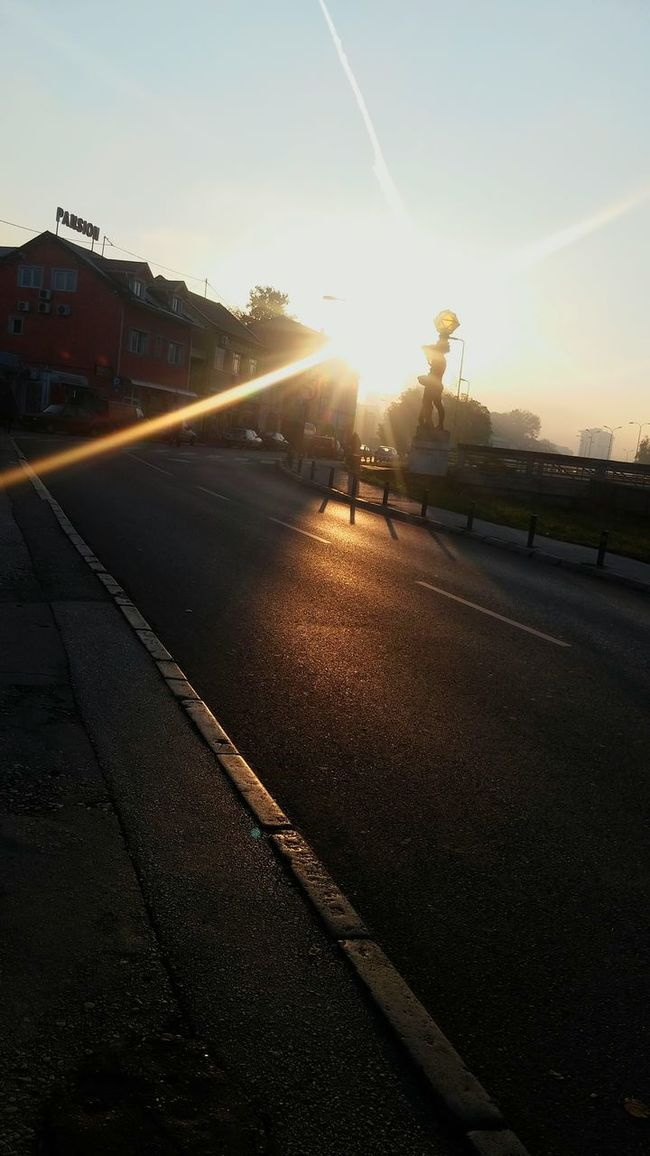 First Eyeem Photo Tuzla,Bosnia And Herzegovina Morning Sun Statues In Love With This City!!