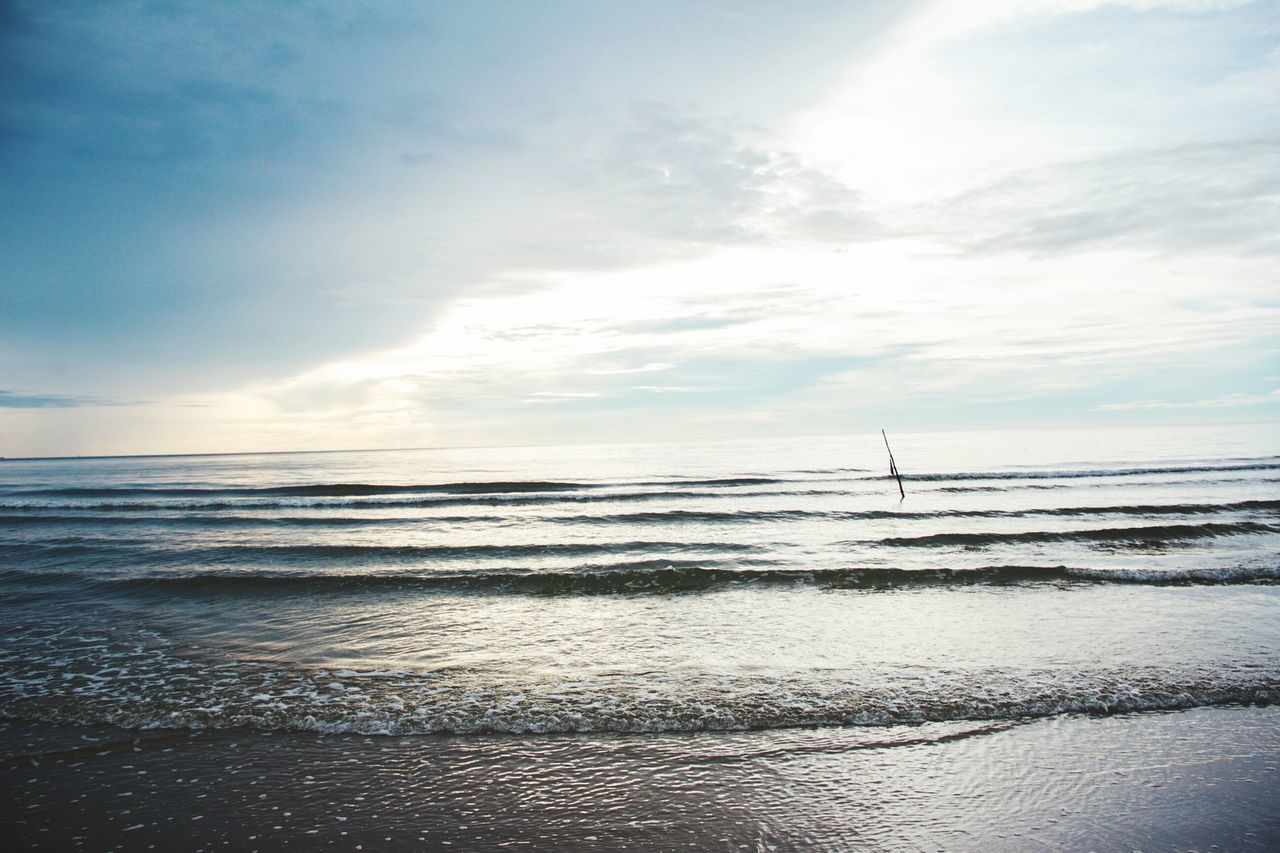 Sea Beach Sand Horizon Over Water Water Scenics Nature Sunset Travel Destinations Cloud - Sky Beauty In Nature Sky Tranquility Tranquil Scene Outdoors Vacations Sun Silhouette Low Tide Summer