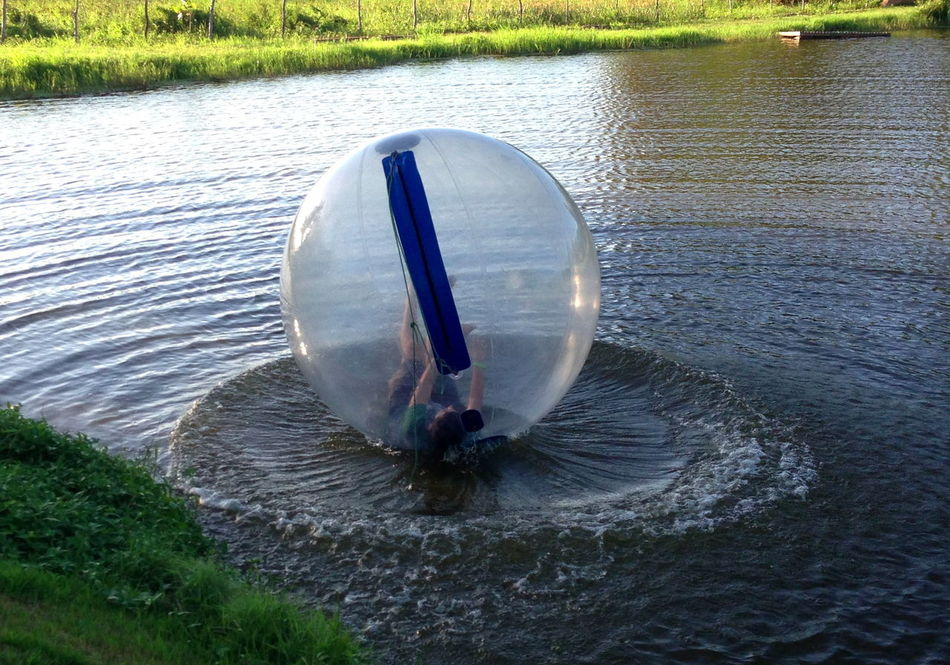 Ball On The Beach Bouncing Ball Enjoying Life Evening Nature Person In A Ball Pond Sports The Magic Mission