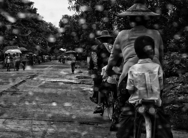 Riding Home Streetphotography Myanmarstreetphotography Students Myanmarstudents