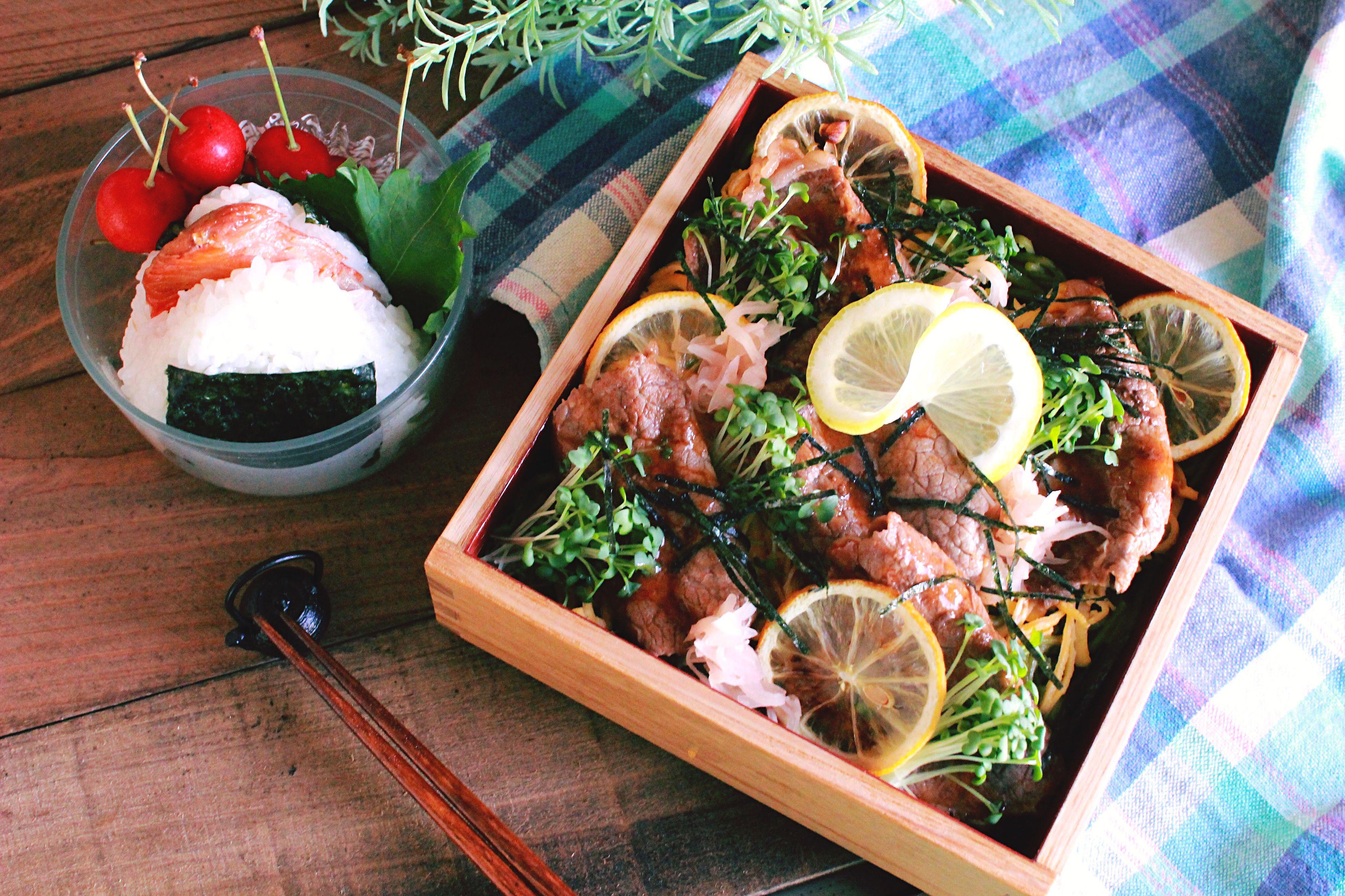 Japanese Food Lunch Box Kawara Soba Green Tea Soba 息子弁当 部活弁当